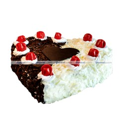 Mixed Black Forest & White Forest Cake- 2 lbs.