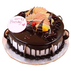 Chocolate Truffle Cake with  fruit topping - 2 lbs